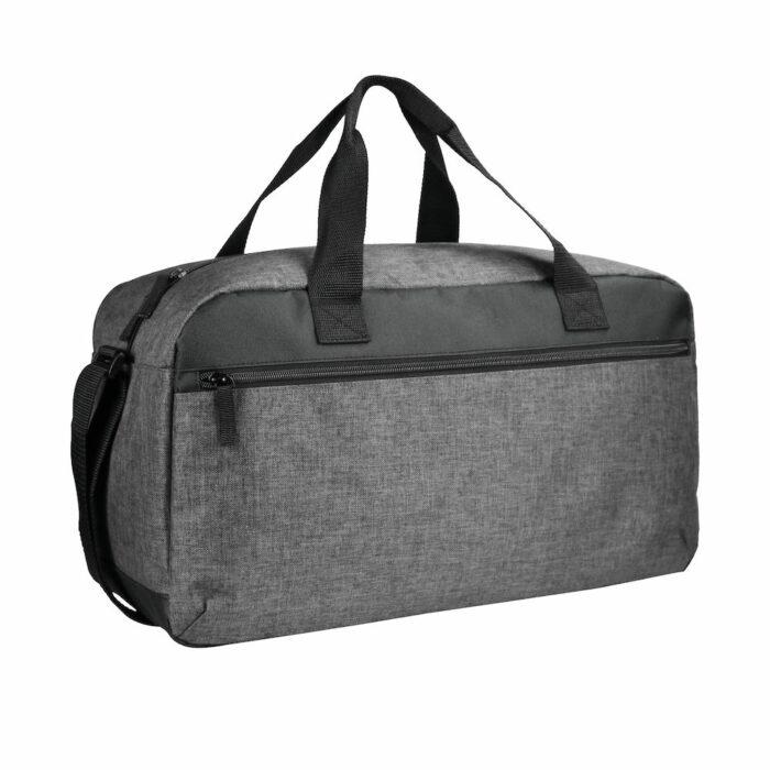 040304_Melange-Travelbag_Grey-Melange, Clique, 109 t-shirts, Sac week-end, we, grand compartiment, zip SBS, poignée robuste, poche avant, 24 litres