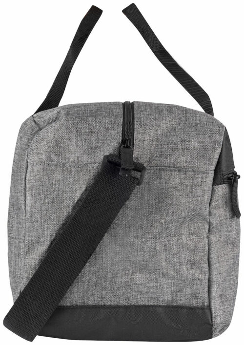 040304_Melange-Travelbag_Grey-Melange, Clique, 109 t-shirts, Sac week-end, we, grand compartiment, zip SBS, poignée robuste, poche avant, 24 litres