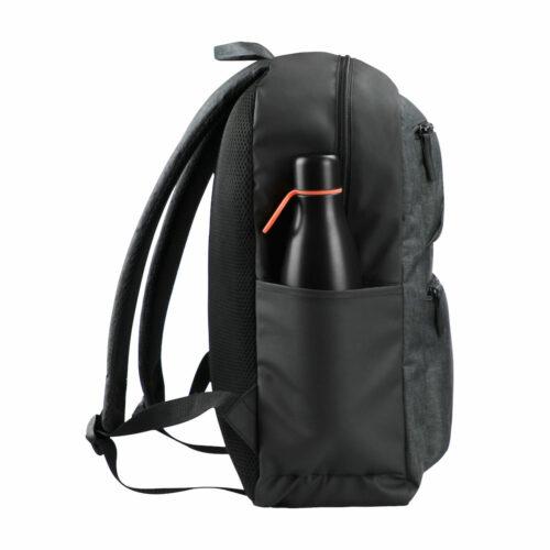 040311_Prestige-Backpack_Anthracite-Melange_Clique, 109 tshirts, sac a dos design, grand compartment, poche latérale, renforts, qualite, 18 litres, zip SBS