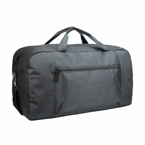 040312_Prestige-Dufflebag_Anthracite-Melange_Clique, 109 tshirts, sac de sport, sac week-end, grand compartiment, zip SBS, renforts, poche avant, 28 litres