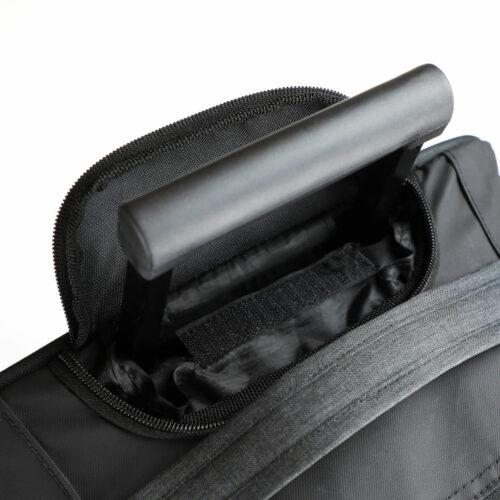 040314_Prestige-Trolley_Anthracite-Melange_Clique, 109 tshirts, trolley, 1.8 kg, 32 litres, bagage a main, grande poche, zip SBS, deux roues légères, poignée télescopique, renforts