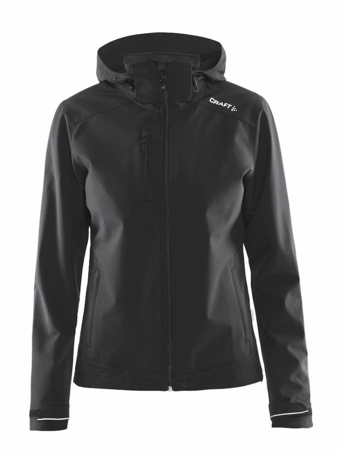 Light Sotshell Jacket Woman, 1903913, Craft, 109 t-shirts, Vent Air, Zips stanches, capuche amovible, thermo-soudees