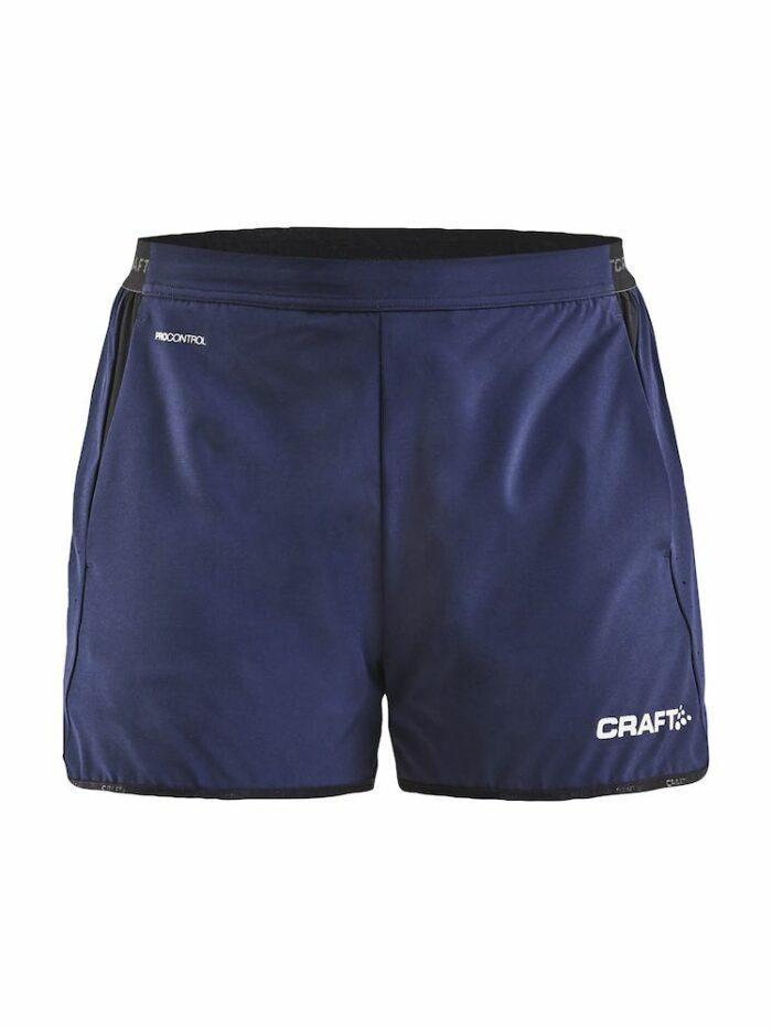 1908238_Pro Control Impact Shorts W, Craft, 109 tshirts, short, extensible long, fente, poches, bane plastique, liberty mouvement, qualite
