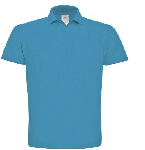 BCID1-Polo-B&C-ID.001 - PU110 - Polo Homme, 100% coton, pre retrace, ring spun, 180g, bouton ton sur ton, B&C, 109 tshirts