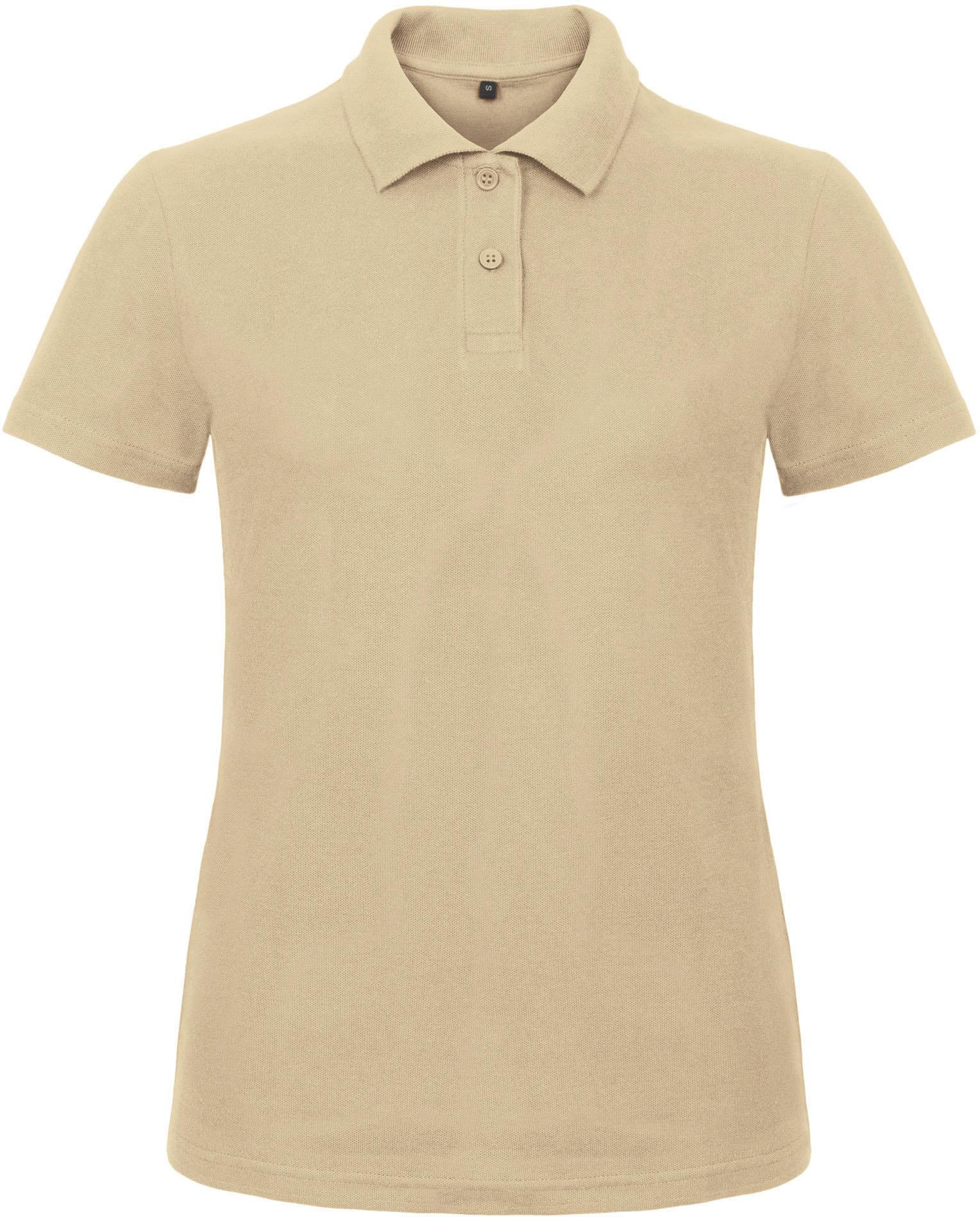 BCID1-Polo-B&C-ID.001 - PWI11- Polo Femme, 100% coton, pre retrace, ring spun, 180g, bouton ton sur ton, B&C, 109 tshirts